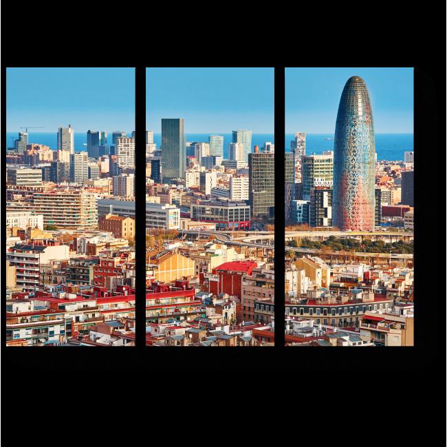 Модульная картина Барселона с высоты прекрасна
