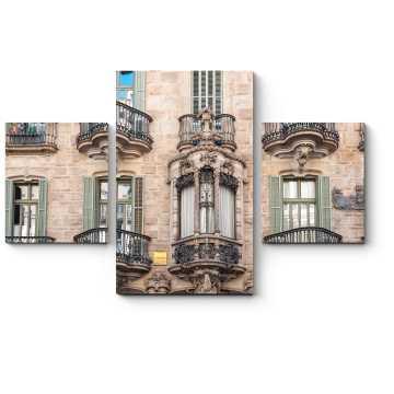 Модульная картина Фасад Дома Кальвета, Барселона