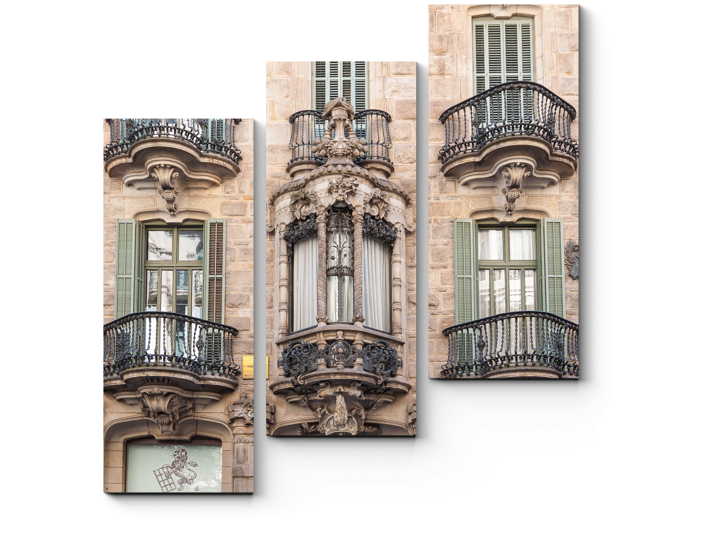 Модульная картина Фасад Дома Кальвета, Барселона (60x64) фото