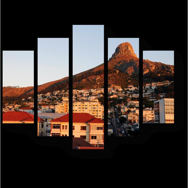 Модульная картина Город у подножия горы