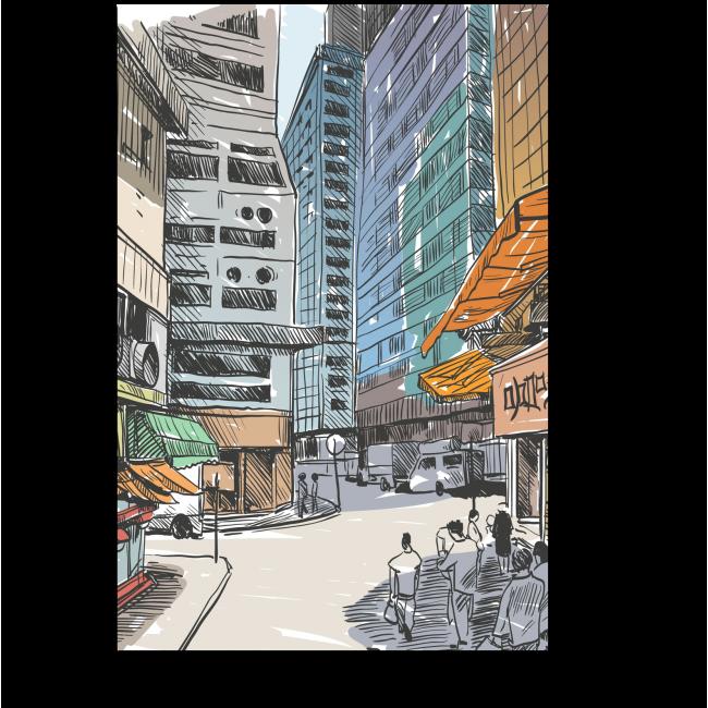 Модульная картина Жаркий полдень в Гонконге