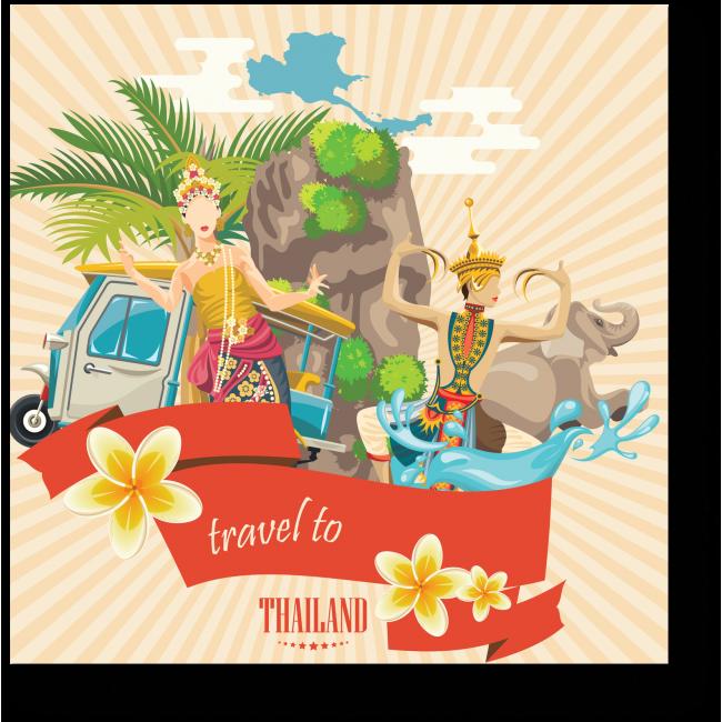 Модульная картина Добро пожаловать в Тайланд