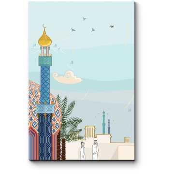 Модульная картина Векторный Дубай