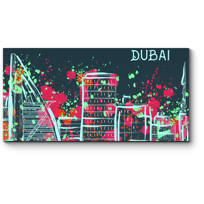 Модульная картина Красочный Дубай