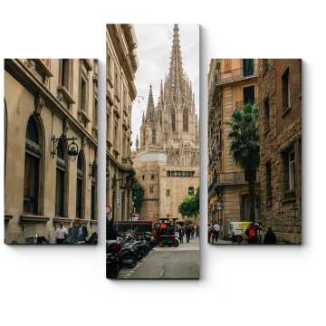 Модульная картина На улочках Барселоны
