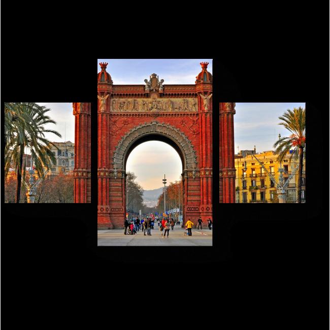 Модульная картина Прогулка по зимней Барселона