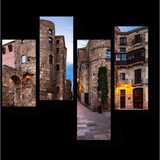 Модульная картина Древнеримские развалины, Барселона