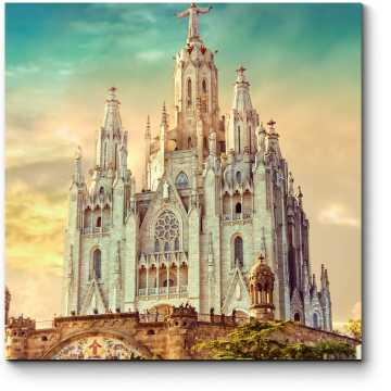 Модульная картина Храм Святого Сердца, Барселона