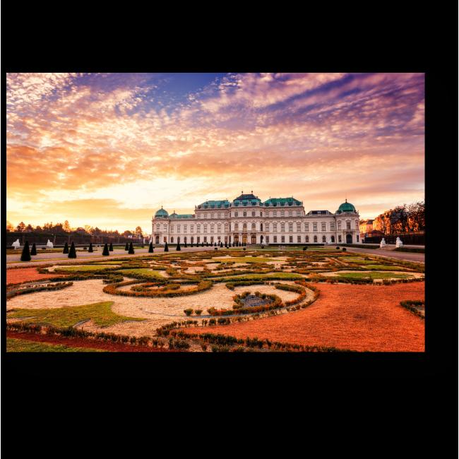 Модульная картина Сказочный замок в Вене