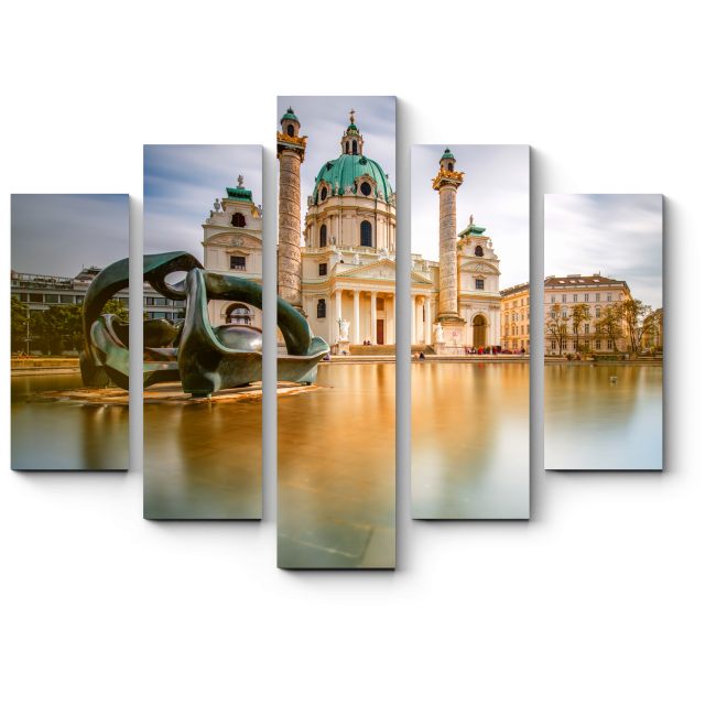 Модульная картина Безмятежное небо над главной площадью Вены