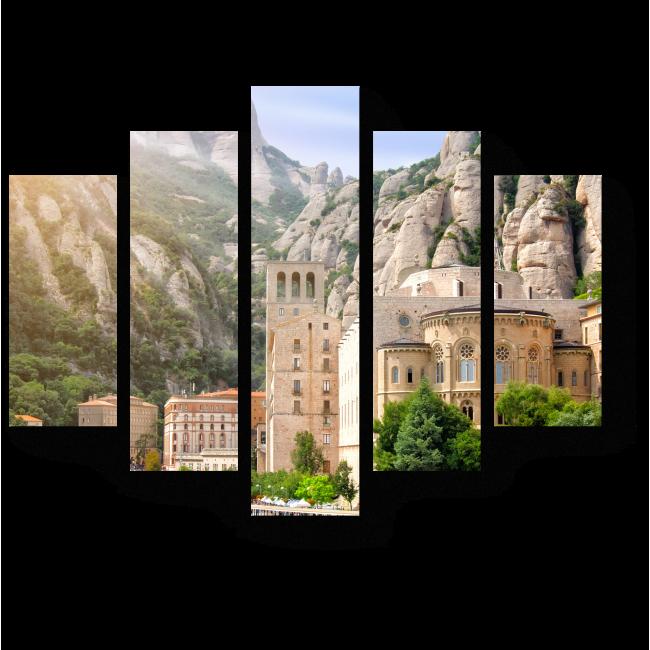 Модульная картина Древний монастырь в Барселоне