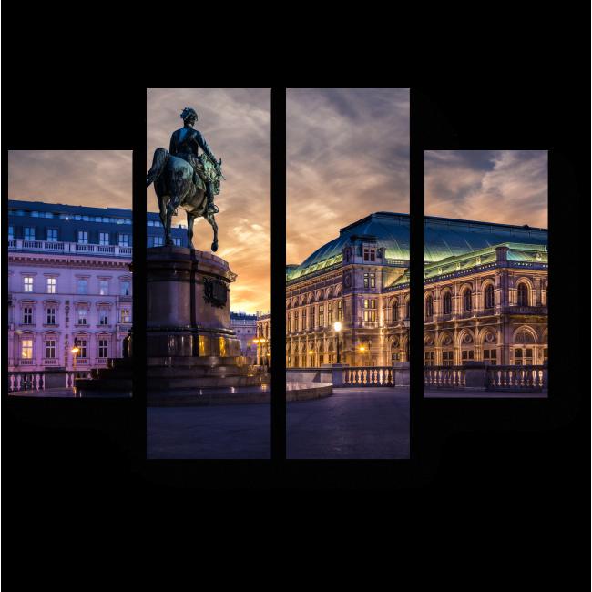 Модульная картина Опера в Вене летним вечером