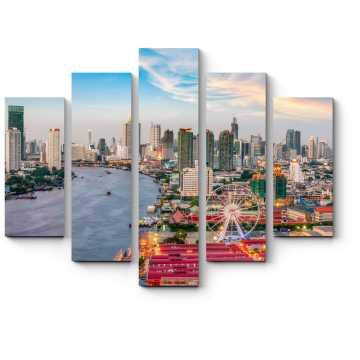 Модульная картина Вечерний Бангкок