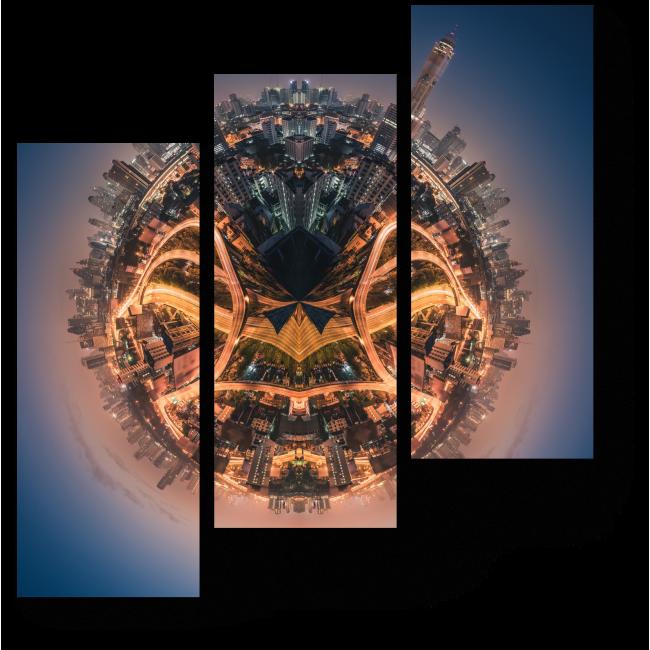 Модульная картина Маленькая планета Бангкок