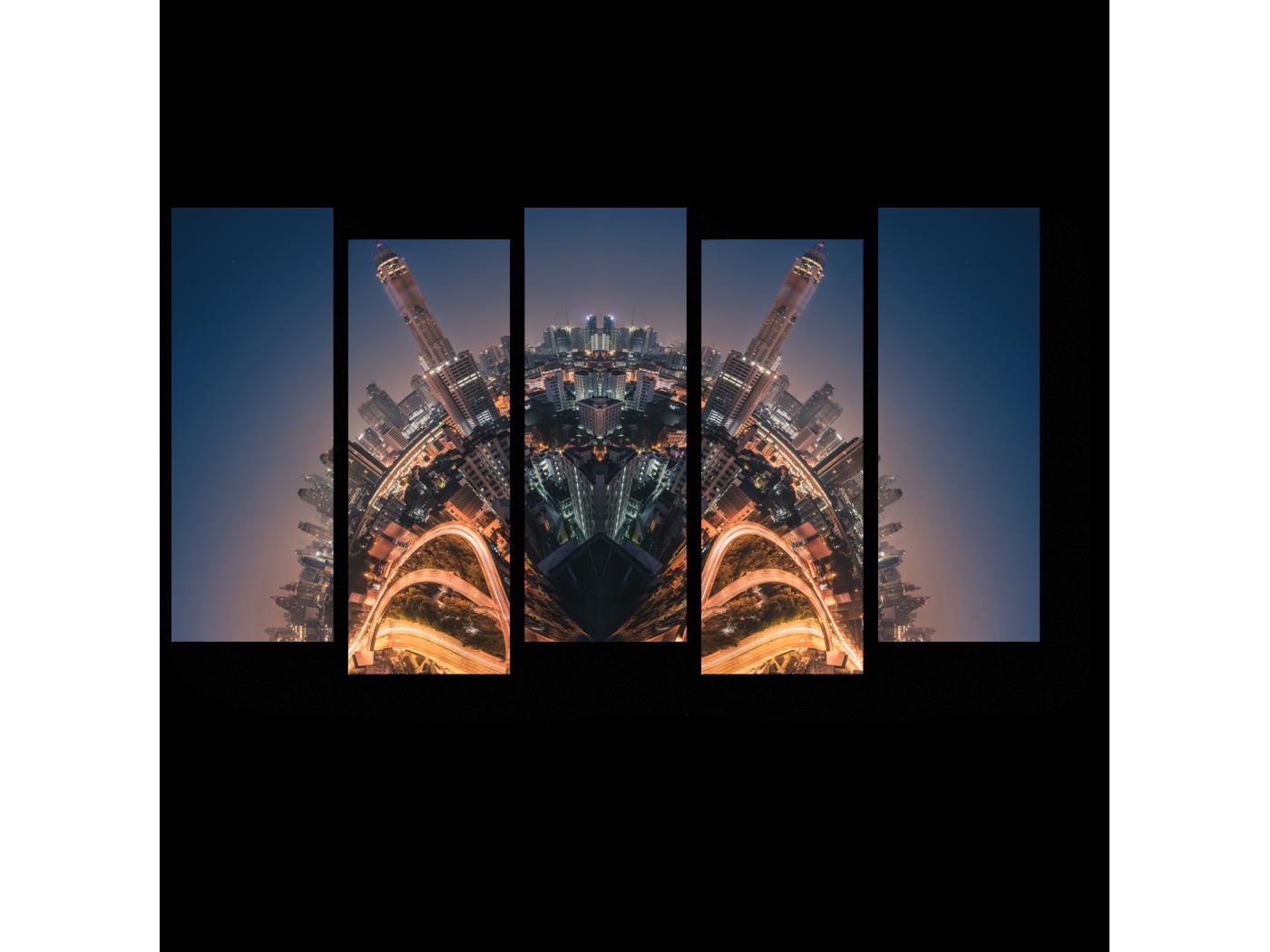Модульная картина Маленькая планета Бангкок (90x52) фото