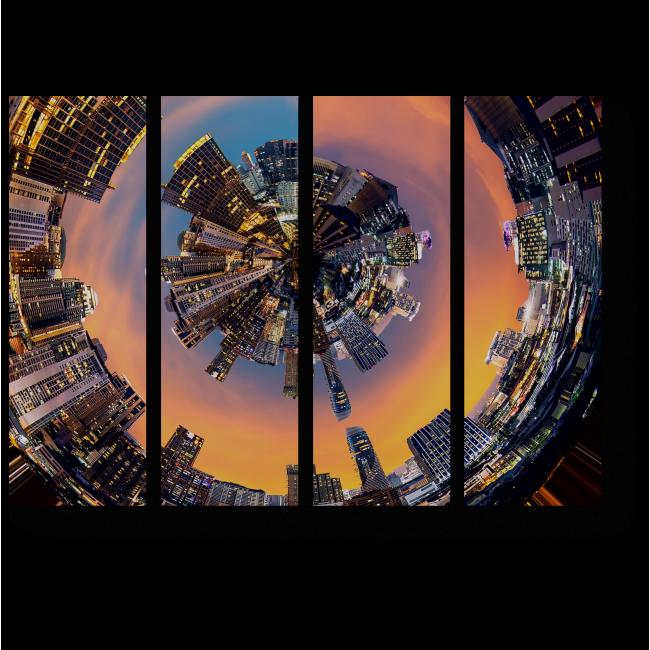 Модульная картина Изнанка Бангкока