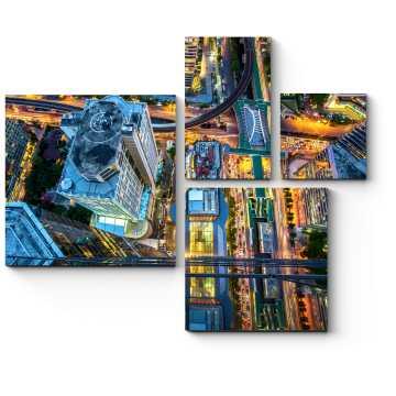 Модульная картина Над ночным Бангкоком