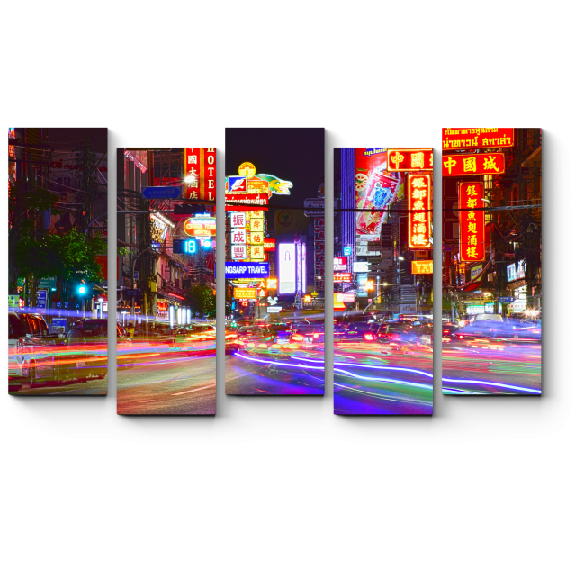 Модульная картина Ночной Бангкок