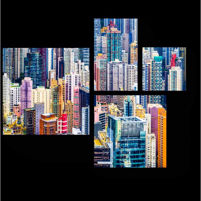Модульная картина Офисные здания, Китай