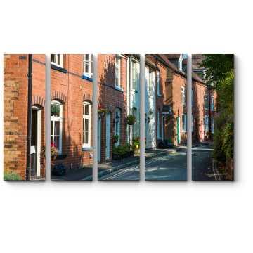 Модульная картина Тихая улочка Бриджнорта, Англия