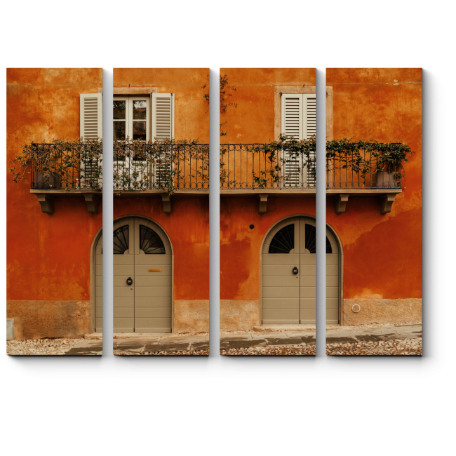Модульная картина Фасадная стена