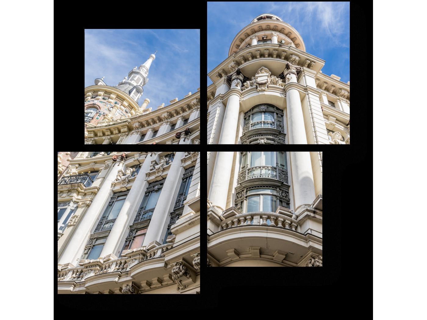 Модульная картина на площади Пласа-де-Каналеяс (50x50) фото