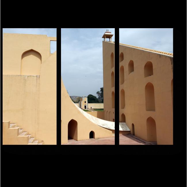Модульная картина Обсерватория в Джайпуре