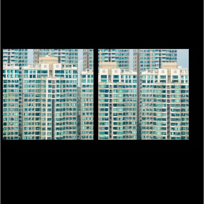 Модульная картина Абстрактная архитектура здания