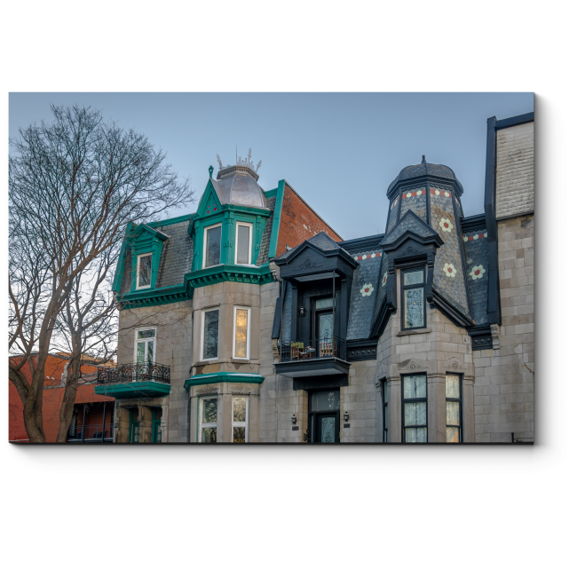 Модульная картина Красочные Викторианские дома