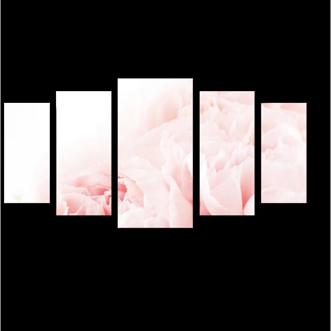 Модульная картина Зефирные гвоздики