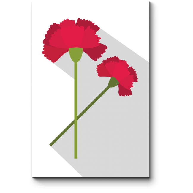 Модульная картина Два красных цветка