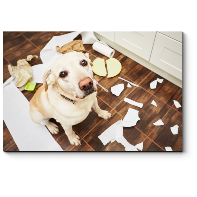 Модульная картина Шкодливый щенок