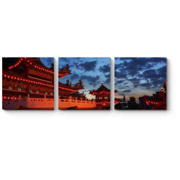 Храм Тянь Хоу в сумерках
