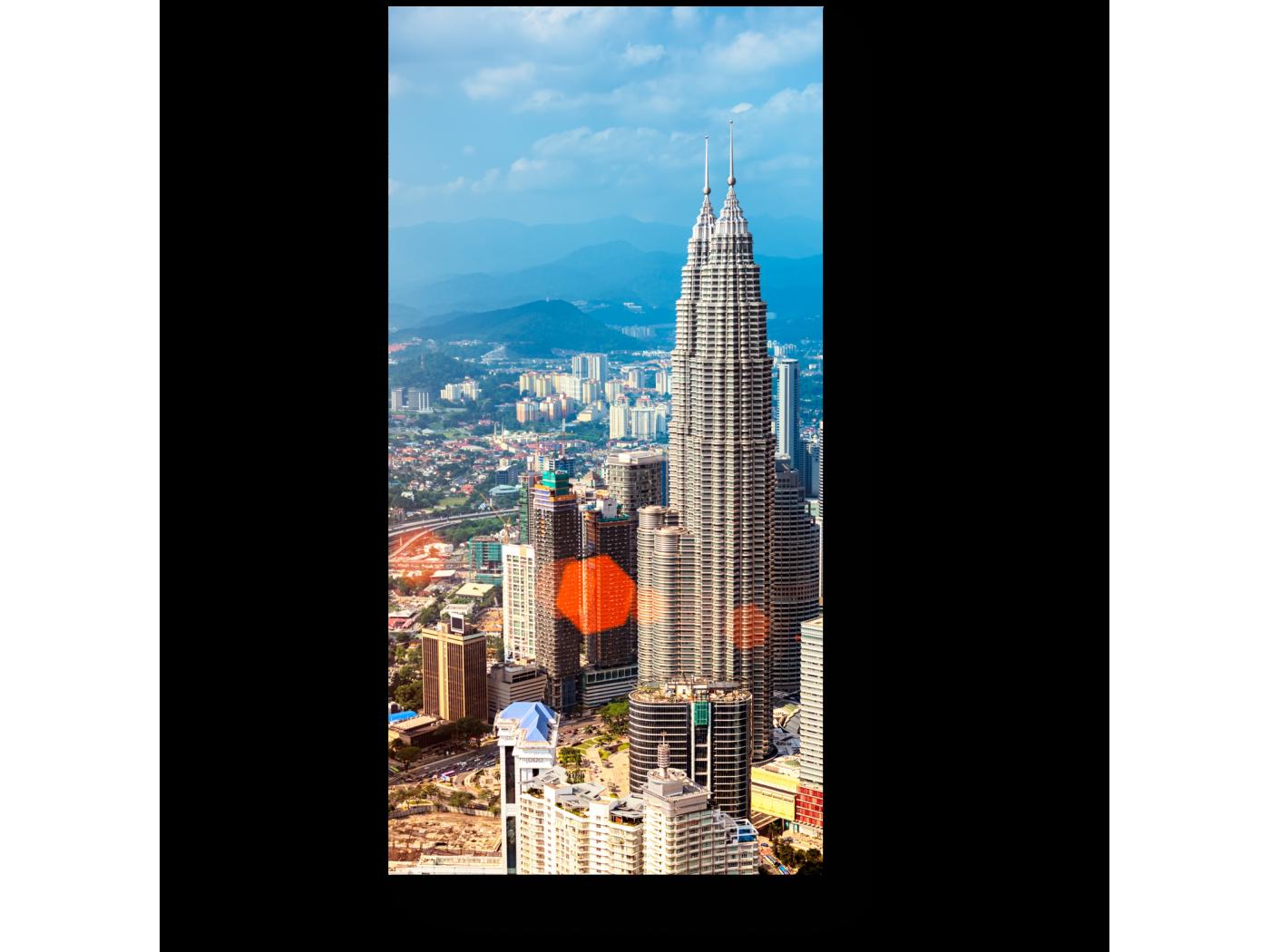 Модульная картина Куала-Лумпур с высоты птичьего полета (20x40) фото