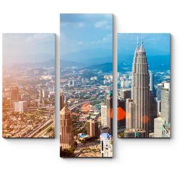 Модульная картина Куала-Лумпур с высоты птичьего полета