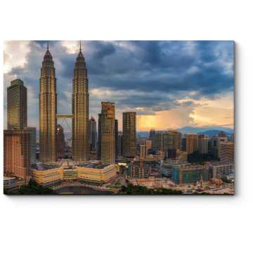 Грозовые тучи над Куала-Лумпур