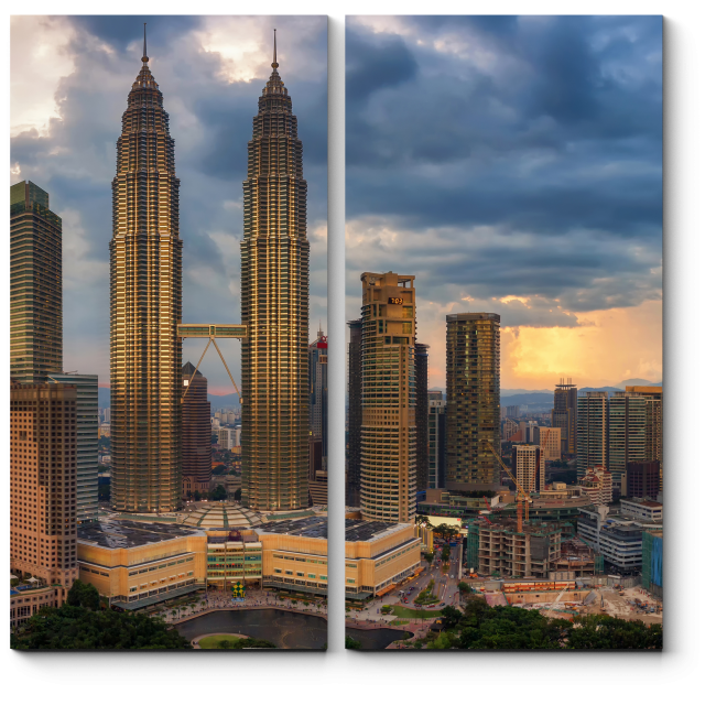 Модульная картина Грозовые тучи над Куала-Лумпур