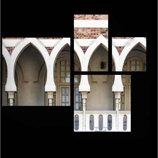 Модульная картина История в архитектуре, Куала-Лумпур