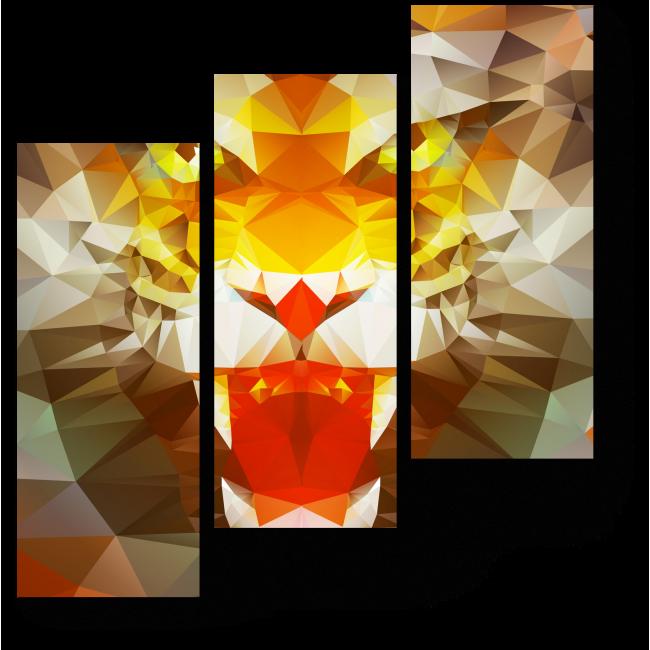 Модульная картина Тигриный рык