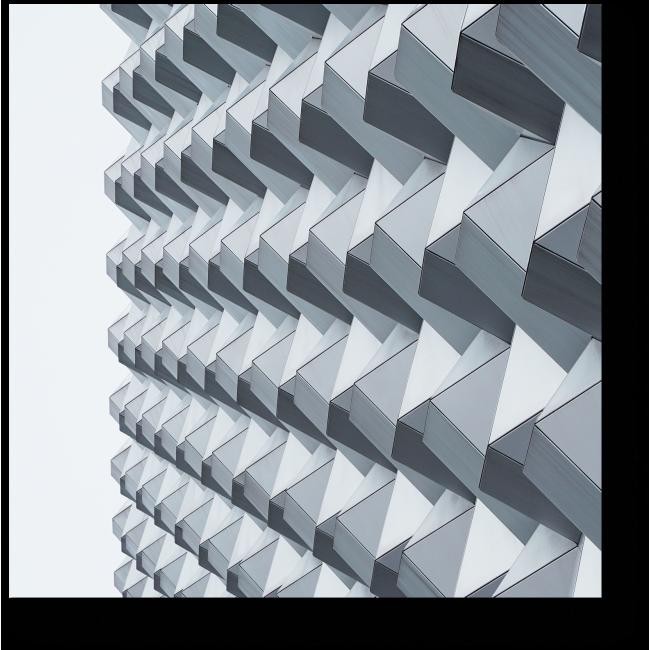 Модульная картина Серебристые формы