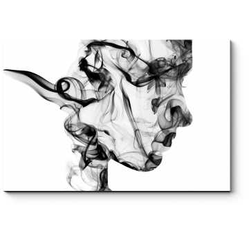 Модульная картина Дымчатый профиль девушки