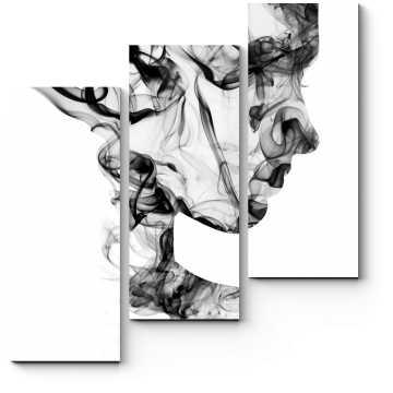 Дымчатый профиль девушки