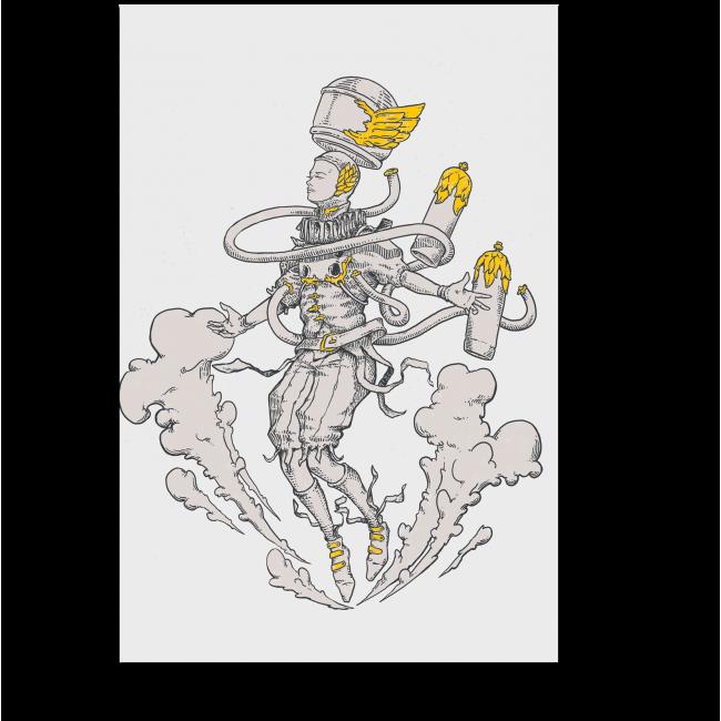 Модульная картина Серебро и золото