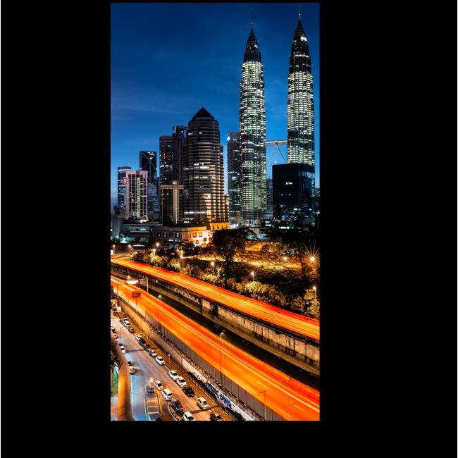 Модульная картина Пробуждающийся Куала-Лумпур на рассвете