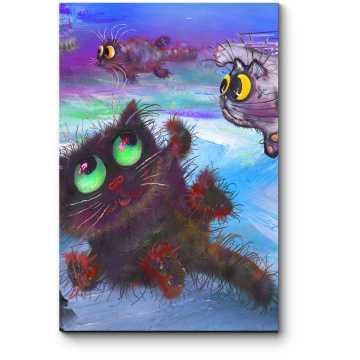Модульная картина Коты-мечтатели