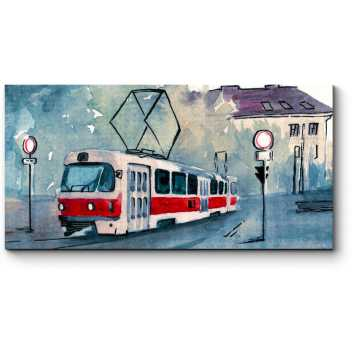 Акварельный трамвай