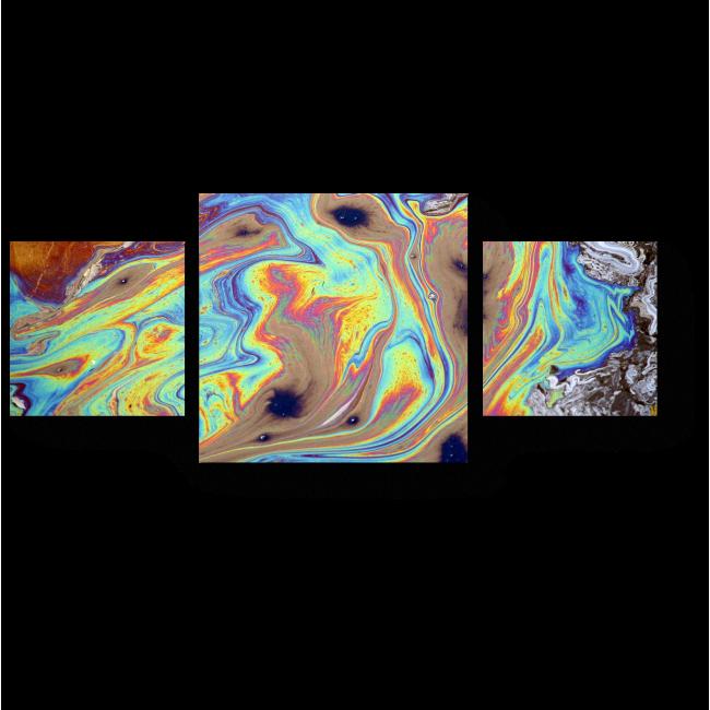 Модульная картина Текучая радуга