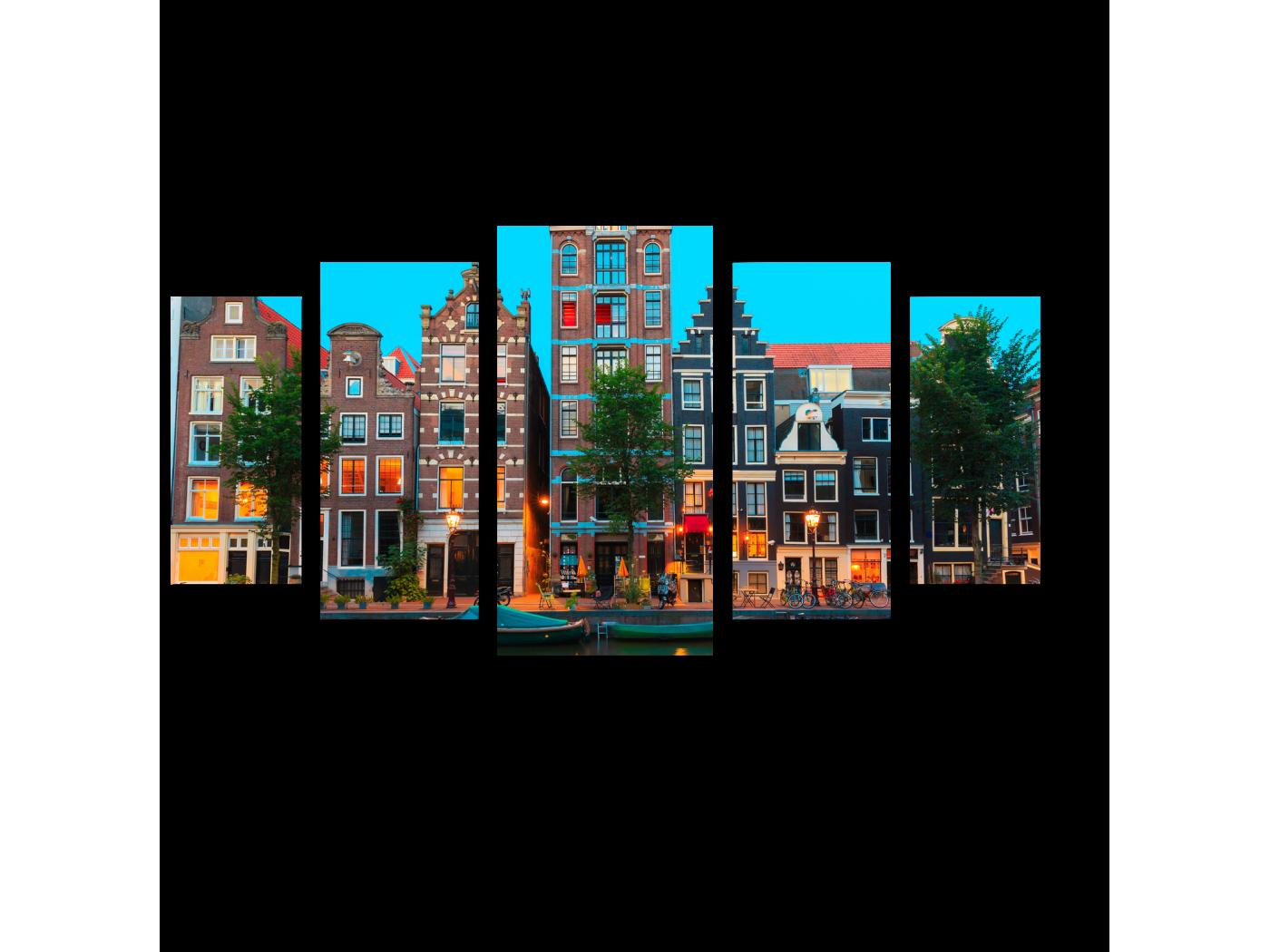 Модульная картина Амстердам каким мы его знаем (100x55) фото