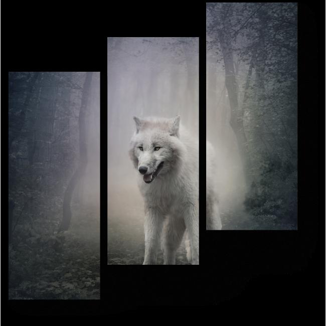 Модульная картина Ночной страж леса