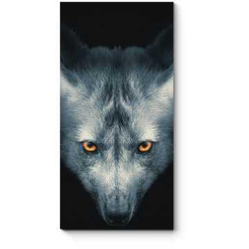 Портрет серого волка